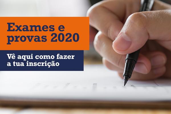 INFORMAÇÃO SOBRE INSCRIÇÕES ONLINE NAS PROVAS E EXAMES 2020
